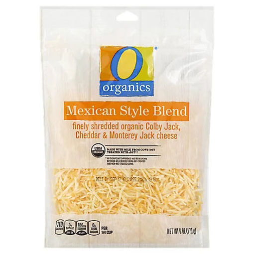 Picture of Organic Cheese Finely Shredded Mexican Blend - 6 Oz