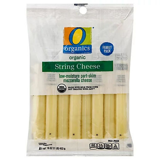 Picture of Organic Cheese Mozzarella String - 16 Oz