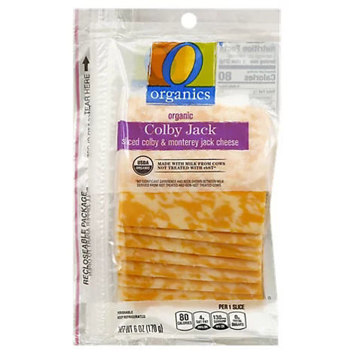 Picture of Organic Cheese Sliced Colby Jack - 6 Oz