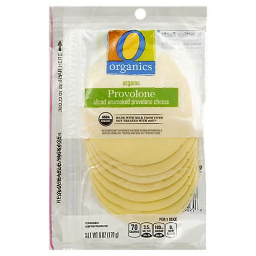 Picture of Organic Cheese Sliced Provolone - 6 Oz