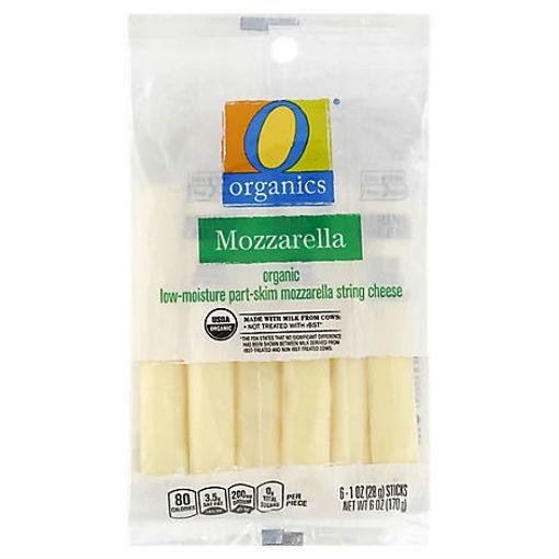 Picture of Organic Cheese String Low-Moisture Mozzarella Part-Skim 6 Count - 6 Oz