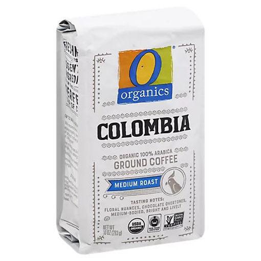 Picture of Organic Coffee Ground Arabica Medium Roast Colombia - 10 Oz