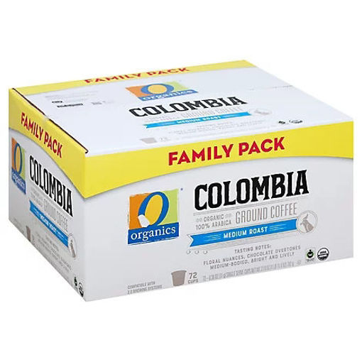 Picture of Organic Coffee Ground Colombia Medium Roast - 72 Count