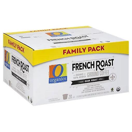 Picture of Organic Coffee Single Serve Cups Dark Roast French Roast - 72-0.39 Oz