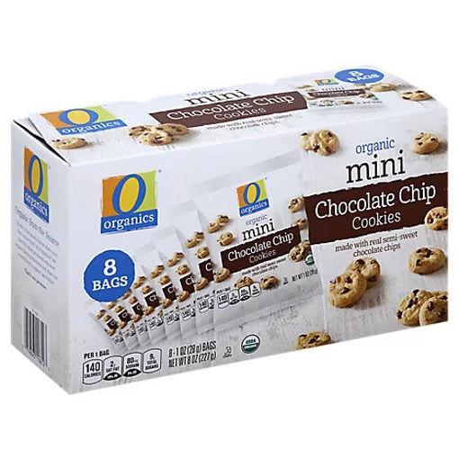 Picture of Organic Cookies Mini Chocolate Chip Box - 8-1 Oz
