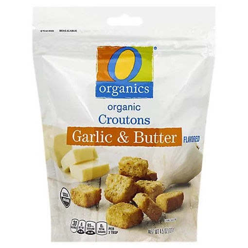 Picture of Organic Croutons Garlic & Butter Flavored - 4.5 Oz
