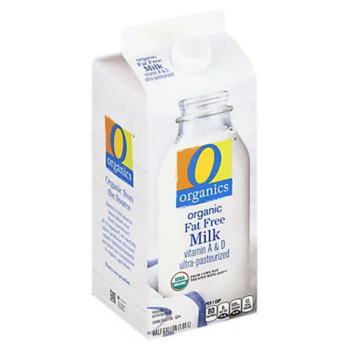 Picture of Organic Fat Free Milk 0% Milkfat - Half Gallon