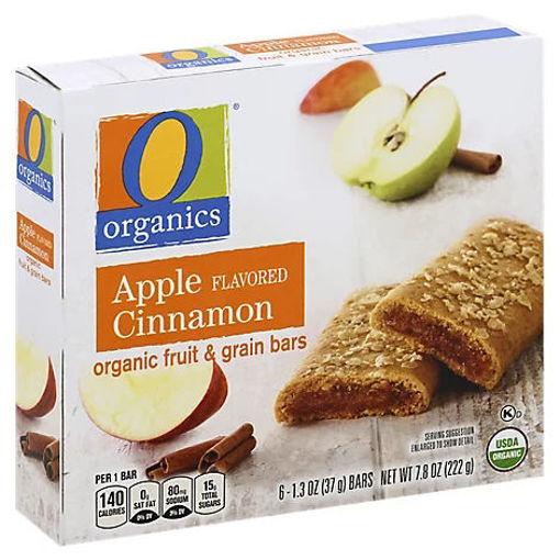 Picture of Organic Fruit & Grain Bars Apple Cinnamon Flavored - 6-1.3 Oz