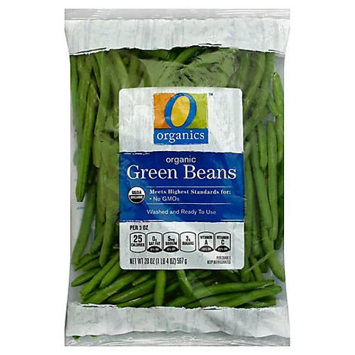Picture of Organic Green Beans Prepacked Bag - 20 Oz