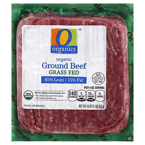 Picture of Organic Ground Beef 85% Lean 15% Fat - 16 Oz.