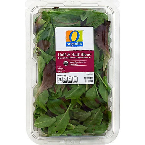 Picture of Organic Half & Half Blend Spring Mix & Baby Spinach - 16 Oz