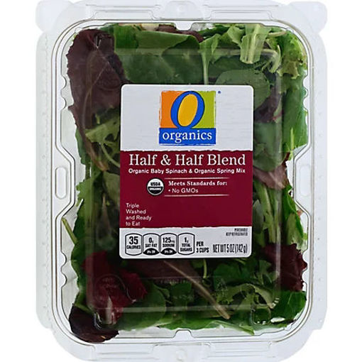 Picture of Organic Half & Half Blend Spring Mix & Baby Spinach - 5 Oz