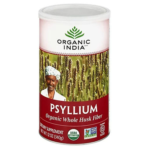 Picture of Organic India Whole Husk Psyllium - 12 Oz