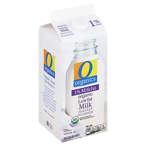 Picture of Organic Milk Low Fat 1% Milkfat - Half Gallon