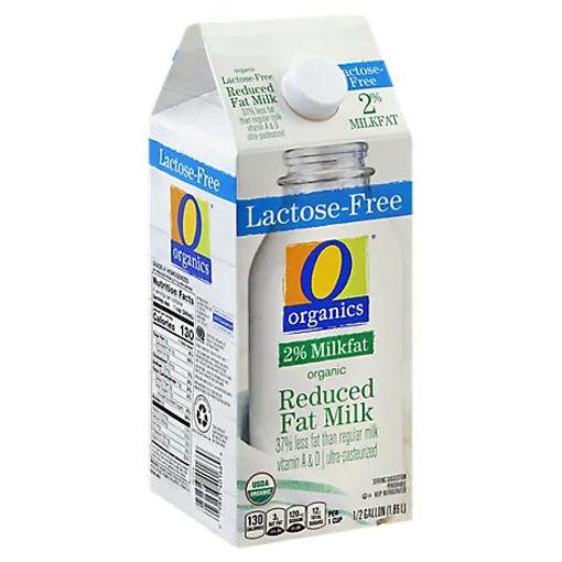 Picture of Organic Milk Reduced Fat 2% Milkfat Lactose Free Half Gallon - 1.89 Liter