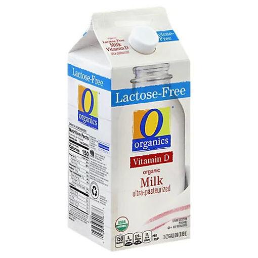 Picture of Organic Milk Ultra Pasteurized Vitamin D Lactose Free Half Gallon - 1.89 Liter