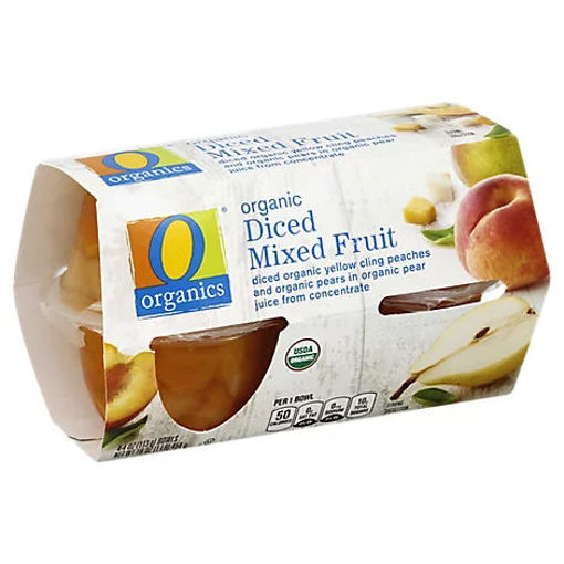 Picture of Organic Mixed Fruit Diced - 4-4 Oz