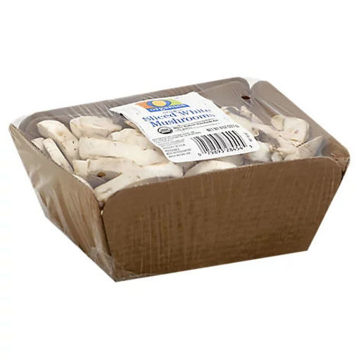Picture of Organic Mushrooms White Sliced - 8 Oz