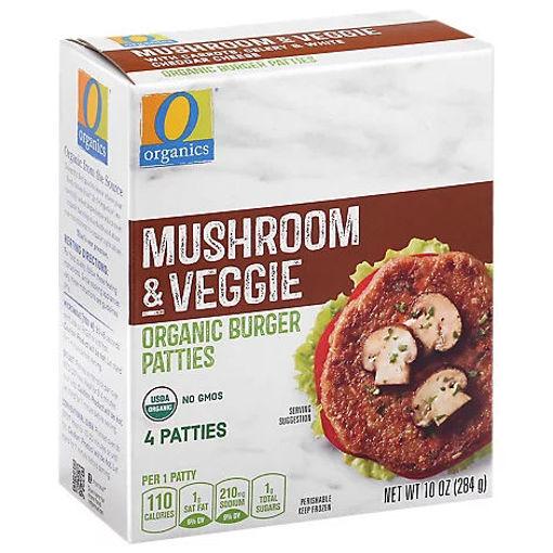 Picture of Organic Patties Veggie Mushroom 4 Count - 10 Oz