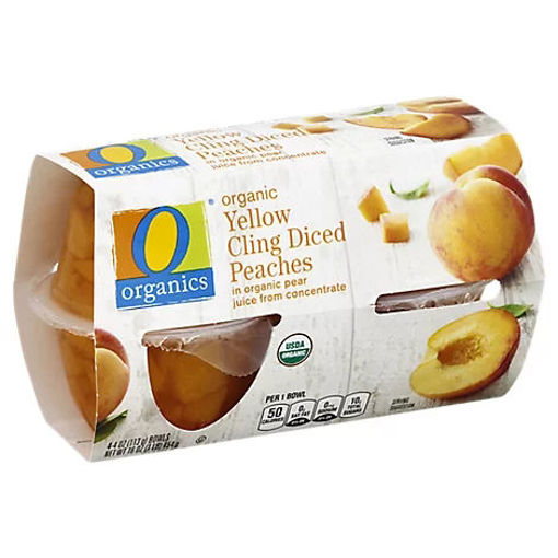 Picture of Organic Peaches Diced - 4-4 Oz