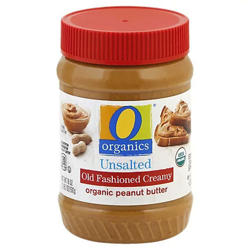 Picture of Organic Peanut Butter Old Fashioned Creamy Unsalted - 18 Oz