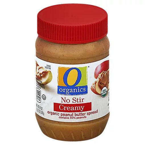 Picture of Organic Peanut Butter Spread No Stir Creamy - 18 Oz