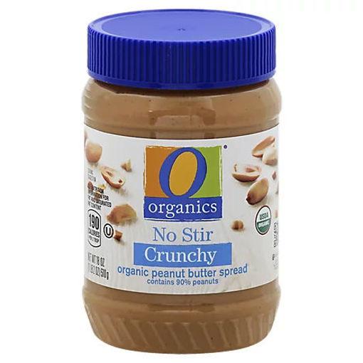 Picture of Organic Peanut Butter Spread No Stir Crunchy - 18 Oz