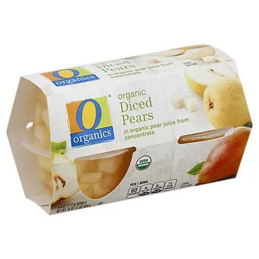 Picture of Organic Pears Diced - 4-4 Oz