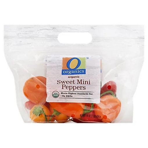 Picture of Organic Peppers Bell Peppers Sweet Mini - 16 Oz