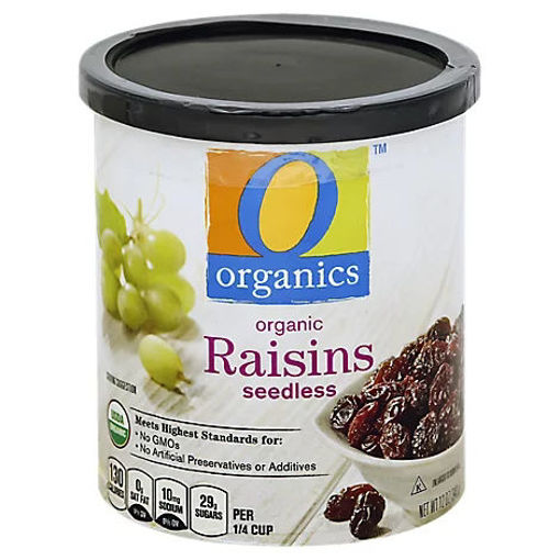 Picture of Organic Raisins Seedless Can - 12 Oz