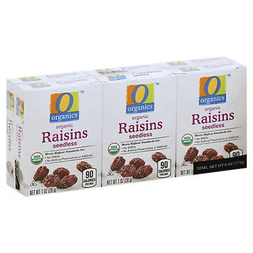 Picture of Organic Raisins Seedless Pack - 6 Count