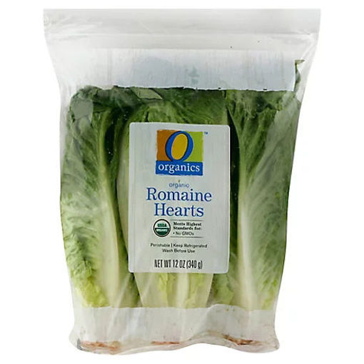 Picture of Organic Romaine Hearts Salad Prepackaged - 3 Count