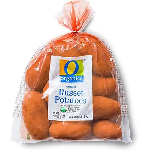 Picture of Organic Russett Potatoes Prepacked Bag - 3 Lb