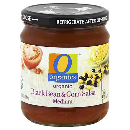 Picture of Organic Salsa Medium Black Bean & Corn Jar - 16 Oz