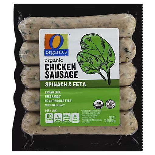 Picture of Organic Sausage Chicken Spinach & Feta Vacuum Packed - 12 Oz