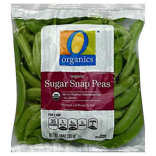 Picture of Organic Sugar Snap Peas Prepacked Bag - 10 Oz