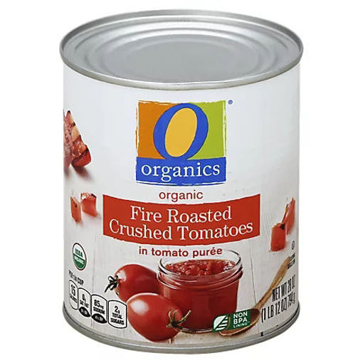 Picture of Organic Tomatoes Crushed Fire Roasted In Tomato Puree - 28 Oz