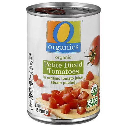 Picture of Organic Tomatoes Diced Petite In Tomato Juice - 14.5 Oz