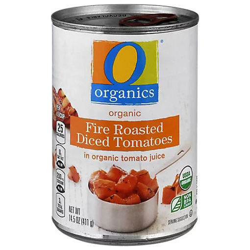 Picture of Organic Tomatoes Diced In Tomato Juice Fire Roasted - 14.5 Oz