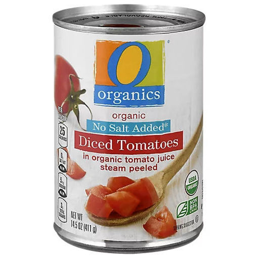 Picture of Organic Tomatoes Diced In Tomato Juice No Salt Added - 14.5 Oz