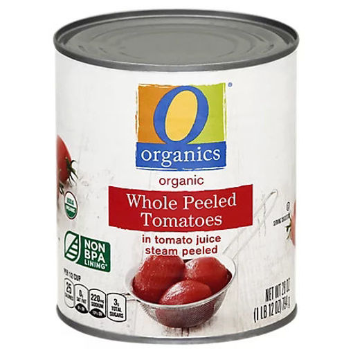 Picture of Organic Tomatoes Peeled Whole In Tomato Juice - 28 Oz