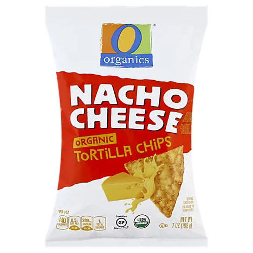 Picture of Organic Tortilla Chips Nacho Cheese - 7 Oz