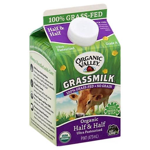 Picture of Organic Valley Grassmilk Half & Half Organic 1 Pint - 473 Ml