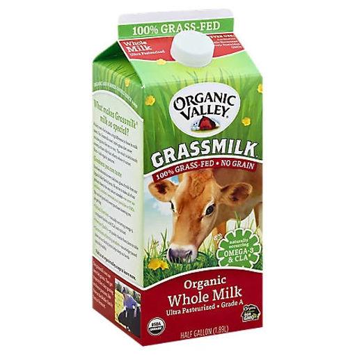 Picture of Organic Valley Grassmilk Organic Milk Whole Half Gallon - 1.89 Liter