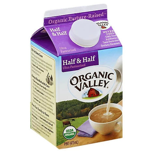 Picture of Organic Valley Half & Half Organic Ultra Pasteurized Pint - 16 Fl. Oz.
