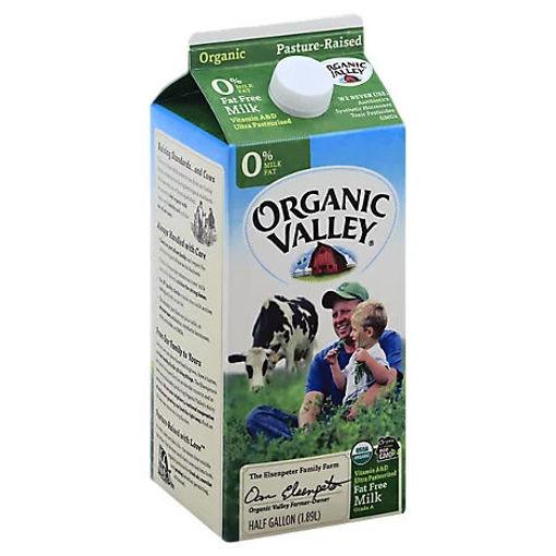 Picture of Organic Valley Milk Organic Fat Free - Half Gallon