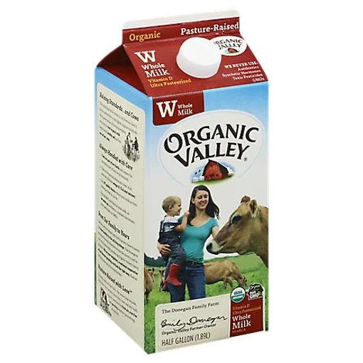 Picture of Organic Valley Milk Organic Whole - Half Gallon