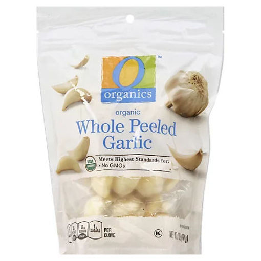 Picture of Organic Whole Peeled Garlic - 6 Oz