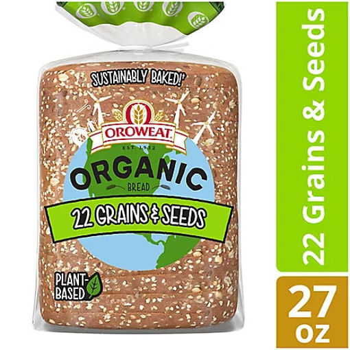 Picture of Oroweat Organic Bread 22 Grains & Seeds - 27 Oz