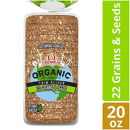 Picture of Oroweat Organic Bread 22 Grains & Seeds Thin Sliced - 20 Oz